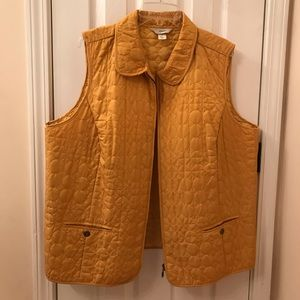 Woman's vest mustered yellow sleeveless like new